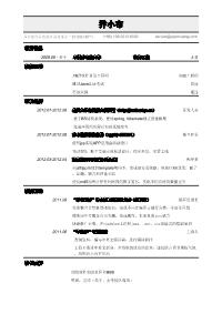 软件工程师新黄金城网址(通用)