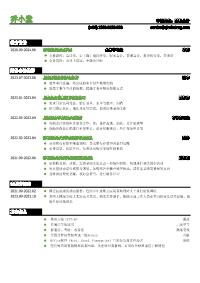 财务会计黄金城网址模板(突出实习经历)