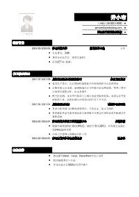 化工类新黄金城网址(突出实习经历)