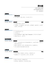 猎头实习生黄金城网址模板(有技能证书)